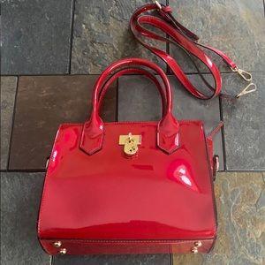 Boutique Patent Red Handbag/Crossbody (NEW)